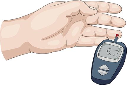 Vid diabetes är det viktigt att ha koll på sin blodsockernivå. Helst ska den vara mellan 4-6 mmol/l före måltid och mindre än 10 mmol/l efter.