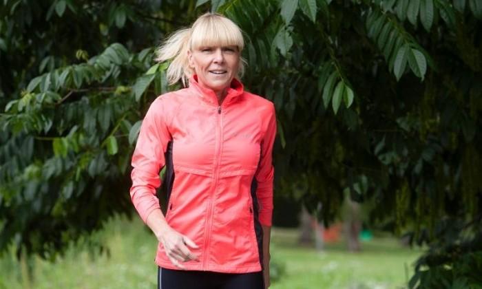 Anna-Karin Amilon njuter av sin återfunna energi och springer utan problem en mil.