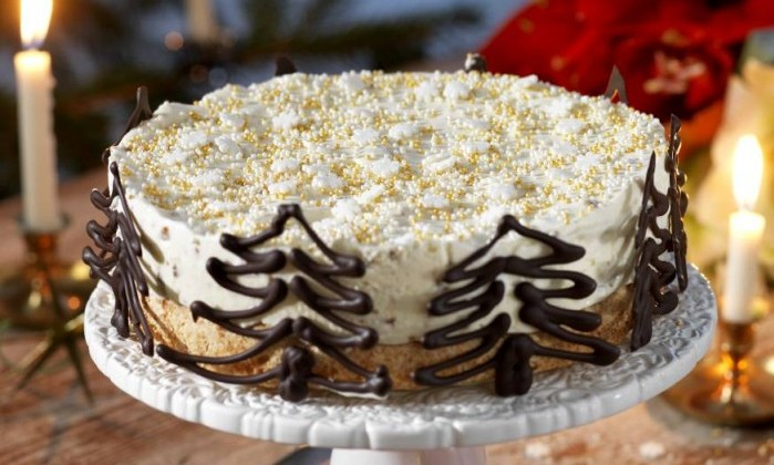 Daimtårta med chokladgranar