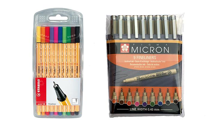 vilka pennor till målarböcker för vuxna