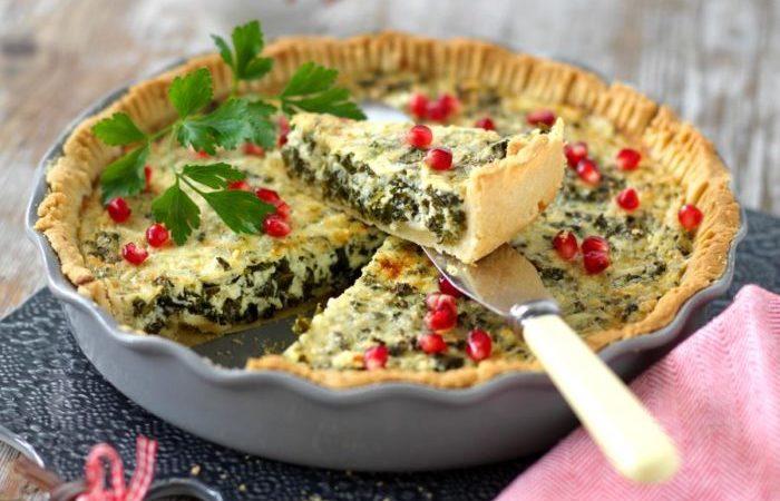 Grönkålspaj med ädelost
