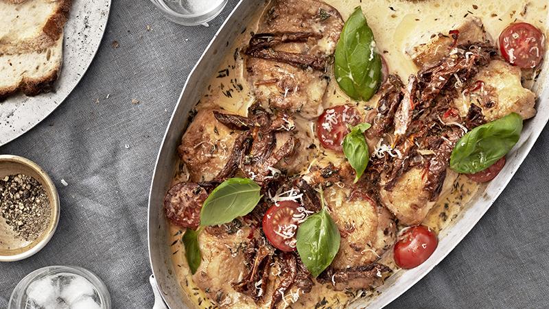 Italiensk kycklinggratäng