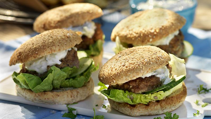 Grekiska hamburgare