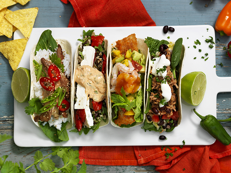 Fyra sorters tacos