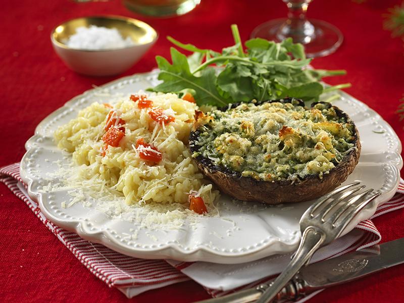 Gratinerad portobello med risotto