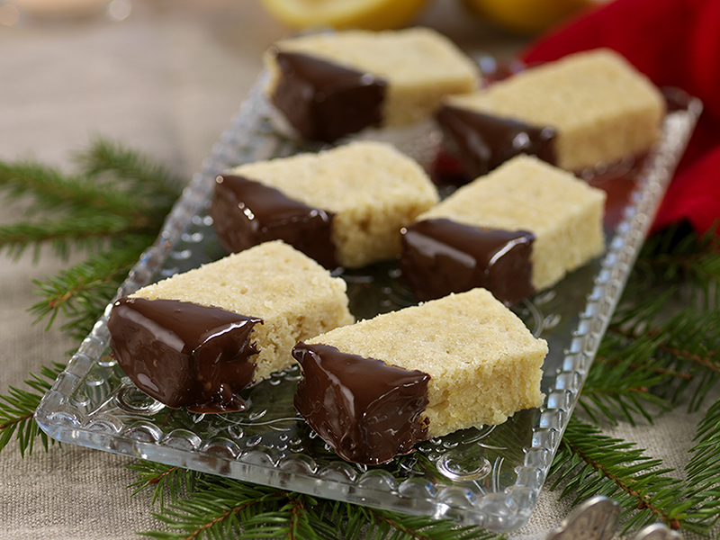 Ingefärskakor med choklad