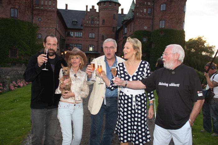 Stjärnorna på slottet med Britt Ekland från 2007.