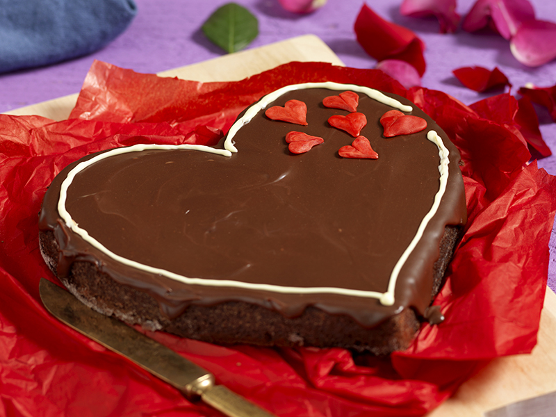 chokladhjärta med tryffelglasyr