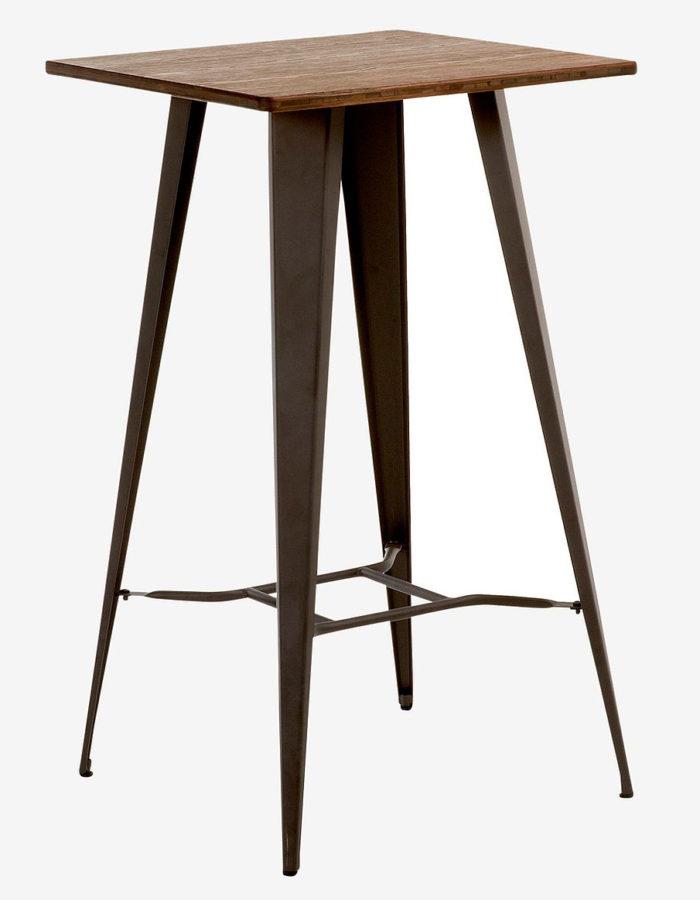 Högt bord i stål och trä, Ellos Home