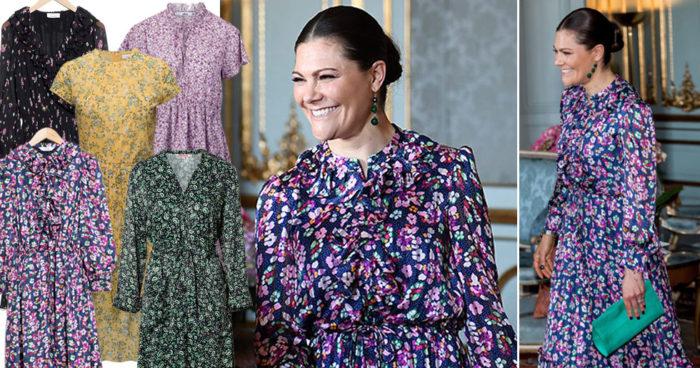 Kronprinsessan Victoria i blommig klänning från & Other Stories
