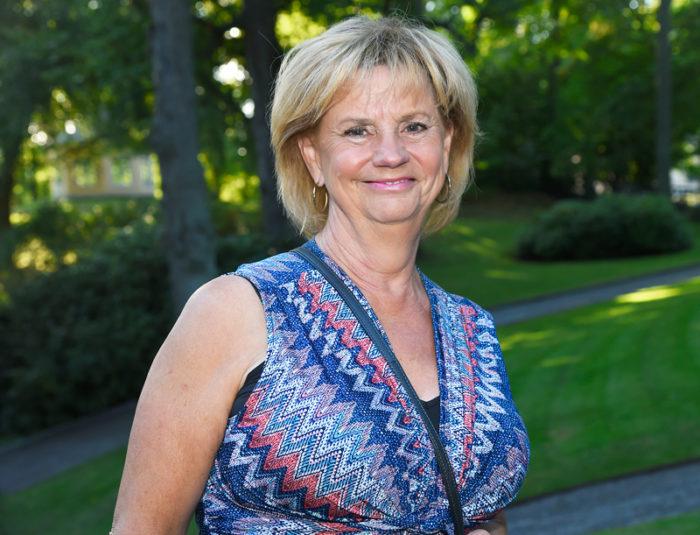 Marianne Rundström, tidigare på SVT, på Albert Bonnier Förlags sensommarfest 2017.