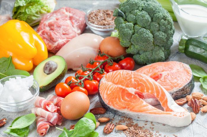 Olika livsmedel som passar den som äter enligt LCHF.