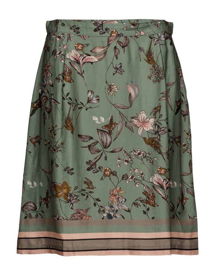 Grönmönstrad kjol från Cream