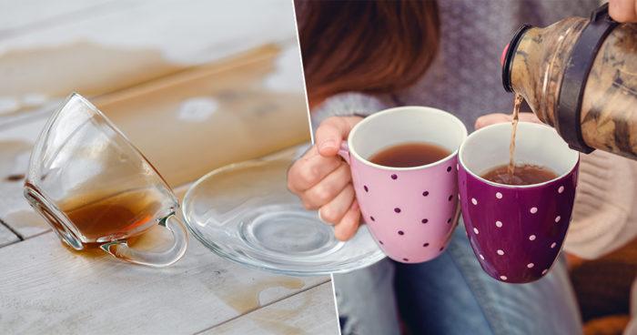 Husmorstips: Så tar du bort tefläckar