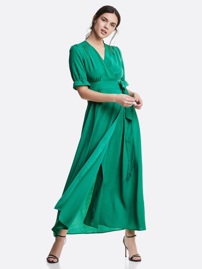 Omlottklänning grön