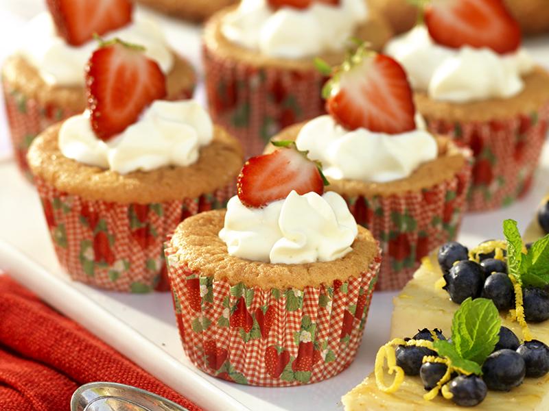 Muffins med sommarbär