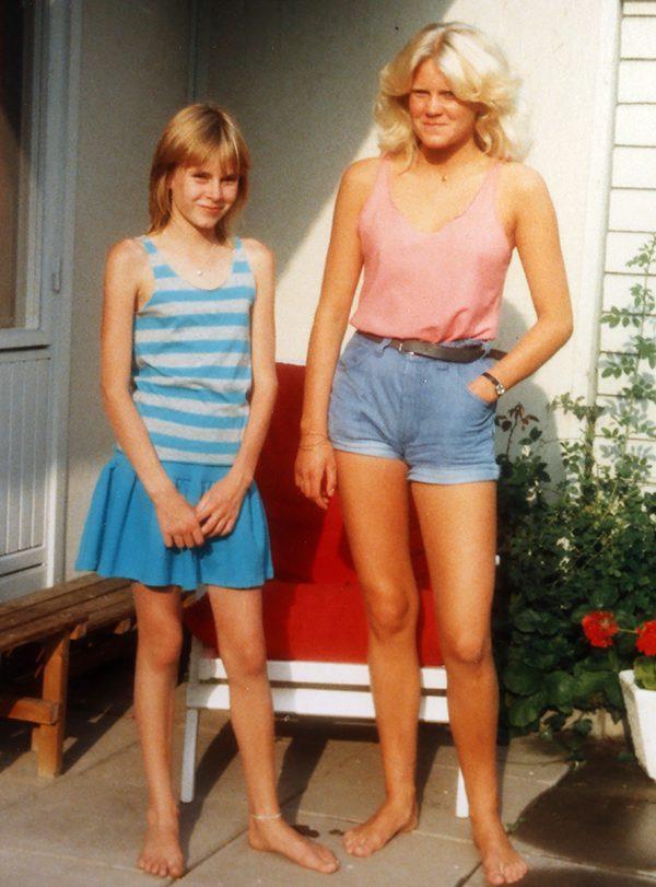 Camilla Kvartoft och systern Camilla