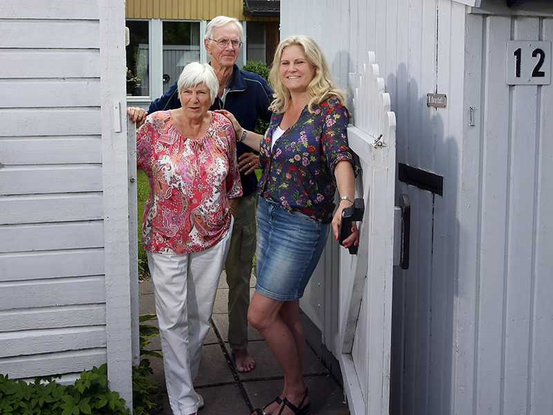Camilla Kvartoft med sina föräldrar