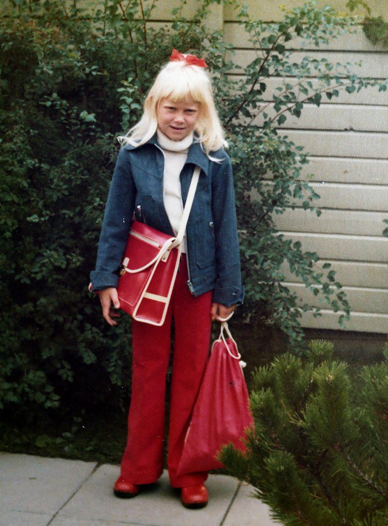 Camilla Kvartoft första skoldagen