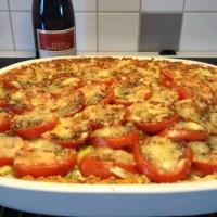 Glutenfri och matig tomatpaj