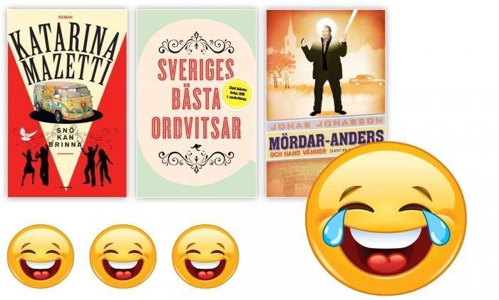 Böcker fulla av skratt