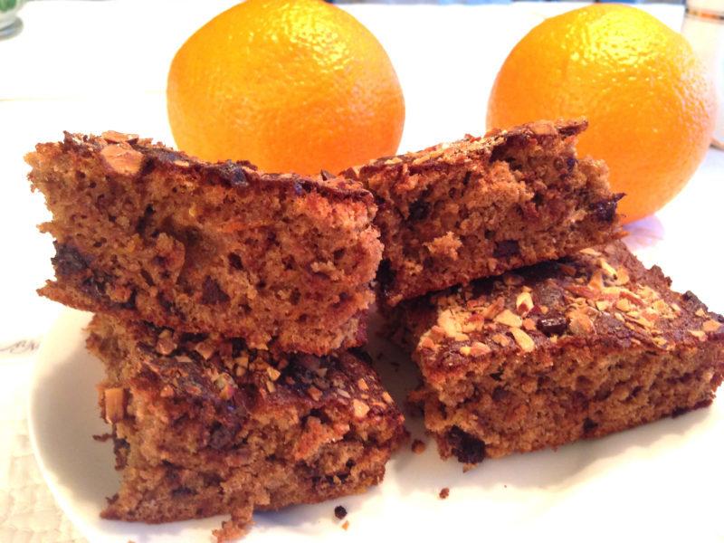 Långpannerutor med choklad och apelsin