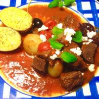 Grekisk köttgryta med massor av gott i