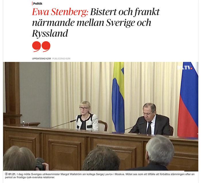 Utrikesministrarna kom inte alls lika nära varandra som jag och Vladde. Bara med en snabb blick, så tror jag att de inte är närmare varandra än 127 cm.