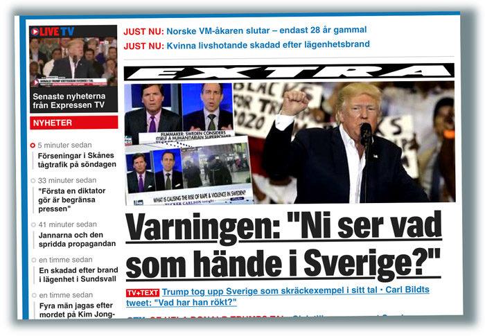President Trump vet något som ingen annan vet. Han vet vad som hände i Sverige. Han lär ha hämtat sin alternativa sanning från världens enda alternativa sanningsspridande tv-kanal. Fox News. Bra kanal. Bara alternativ sanning.