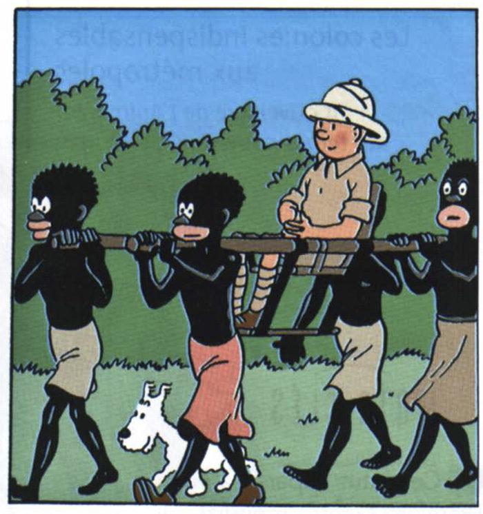 I Afrika går det inte till så här. Om du tar ditt flygplan dit, så får du nog vara beredd på att åka i en av dina bilar. Tintin är inte precis en dokumentär.